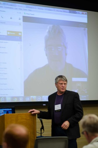 Doug Powell, Kansas State University, joined the workshop by Skype while in Australia to discuss his observations and research into food safety.