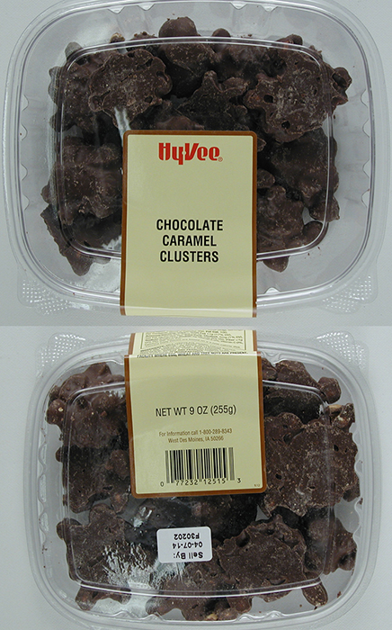 Palmer Candy Company of Sioux City, Iowa, issued a recall for 102 cases of HyVee Chocolate Caramel Clusters and 90 cases of Chocolate Covered Caramels distributed throughout the Midwest because they may contain undeclared peanuts. Each year, about 150 people die because of food allergies, according to the FDA.