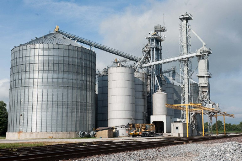 The grain facility in Sidney, IL on Tuesday, August 13, 2013