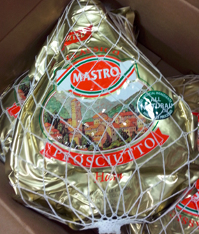 On Dec. 6, Santa Maria Foods of Ontario, Canada, also issued a recall for about 2,600 pounds of its boneless ham prosciutto product because of a possible Listeria monocytogenes contamination.