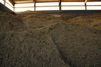 Manure solids, dried fluffy and no longer smelly, are used as bedding for cows at Holsum Dairies, or they become mulch for local gardeners.