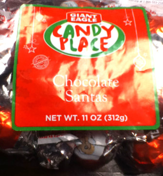Chocolate-Santa candies from Giant Eagle of Pennsylvania and from Concertos in Chocolate of Colorado were recalled because of undeclared allergens, such as peanuts or milk.