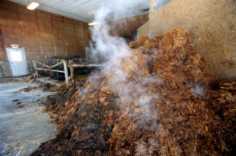 Not all waste is the same. Manure mixed with straw and hay is brought by farmers to a separate building at the digester near Waunakee, where it is processed separately from the manure pumped underground from the farms.