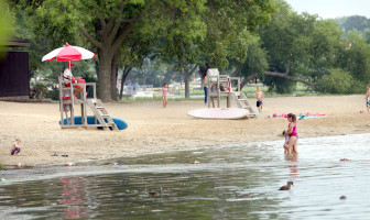 """""""This was not one of the worst ones, for sure,"""" said Kirsti Sorsa of Madison and Dane County Public Health, summing up the 2013 swimming season. At Vilas, where geese have contaminated the water, beach closures dropped significantly in 2013."""