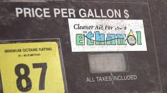 Corn ethanol pump for E10 through E15 mixtures. Photo taken May 6, 2014.