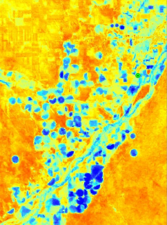 Map showing evapotranspiration