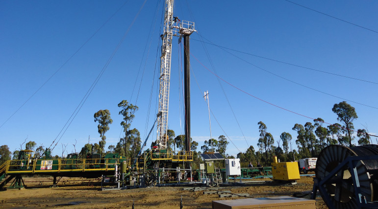 A fracking operation in 2011. The Illinois Department of Natural Resources approved state fracking rules on Nov. 6, 2014.