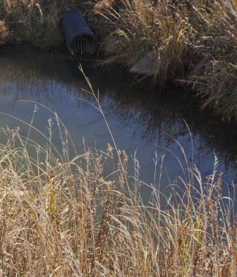 A farm drainage ditch just outside Tolono, Ill., on Nov. 5, 2014. Seasonal and rain-dependent rivers and streams would be protected under the proposed rule.