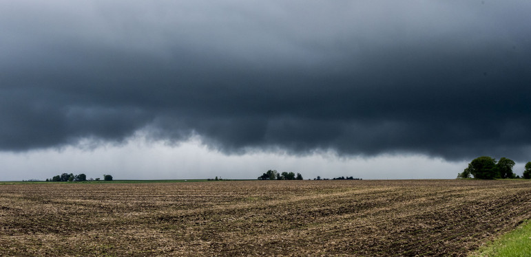 Severe weather in Champaign County, Ill., on May 30, 2015.