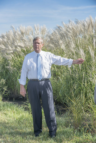 U.S. Secretary of Agriculture Tom Vilsack talks about biofuels near the University of Illinois at Urbana-Champaign on Sept. 10, 2015.