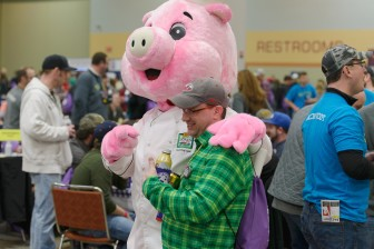 The Blue Ribbon Bacon Festival on Jan. 31, 2015, in Des Moines, Iowa.