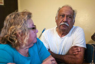 "Leonor Pizana, 65, and Tomas Pizana, 69, talk about living at the bed bug-ridden Pine Creek housing facility in Holland, Mich. ""We're getting eaten,"" Leonor says."