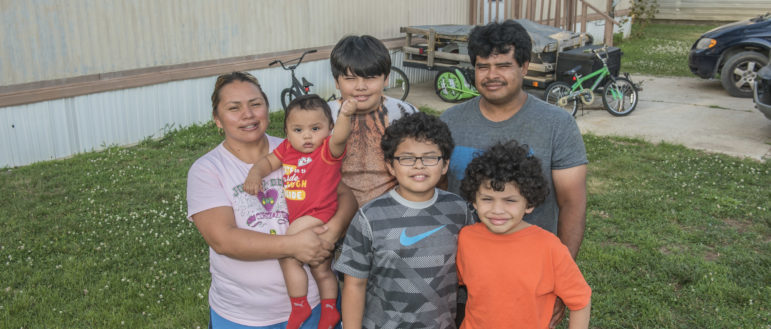 Agustin Chavarria, 41, wife Francisca Lopez, 42, and children Claudio, Angel, Felipe and Jose on June 22, 2016.