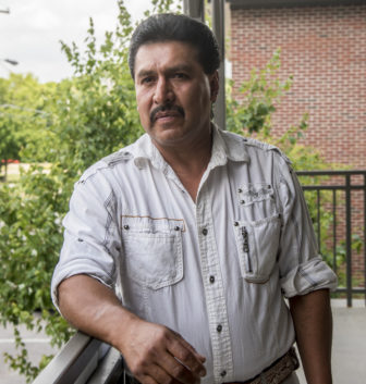 Baltazar Arvisu, 50, talks about his experiences working as a migrant farmworker throughout the United States on June 12, 2016. Arvisu has worked throughout the country picking fruits and vegetables. He says he now tries to find his own housing during jobs.