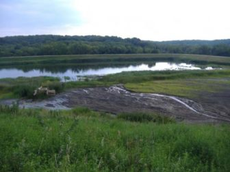 A view of the East Ash Pond at the Vermilion Power Station