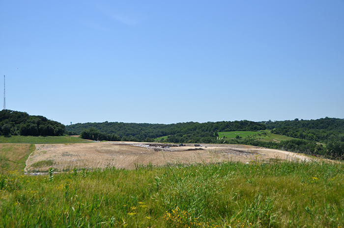 Dubuque's active landfill cell.